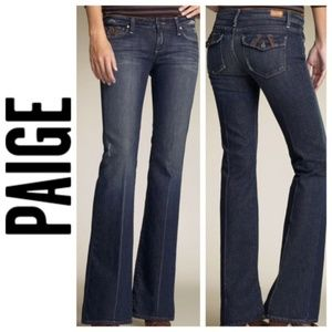 Paige Fairfax Dark Wash Bootcut Mid Rise Jeans 30